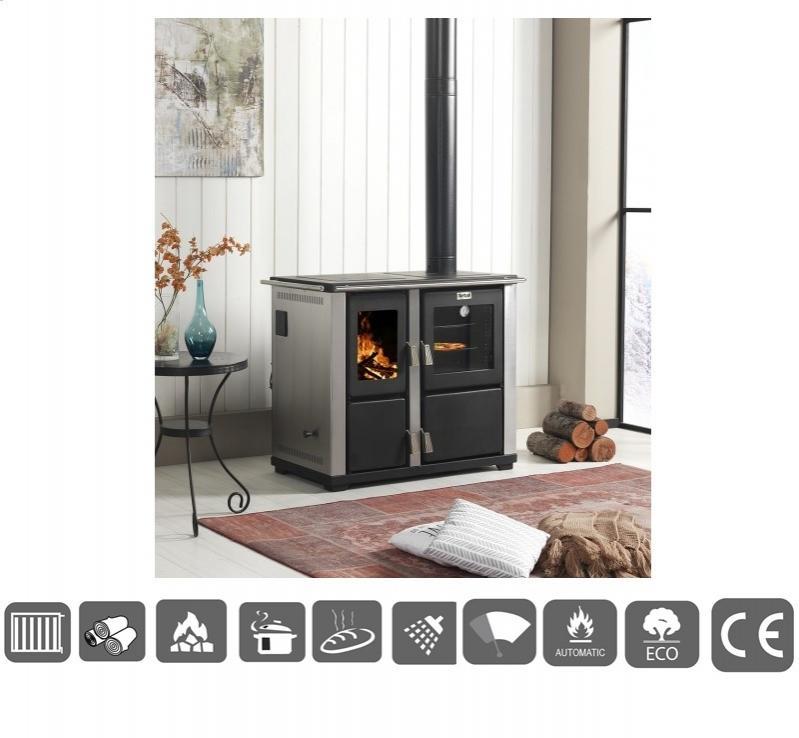 Cocina caldera para calefaccion leña