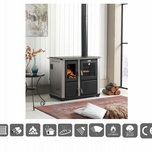 Cocina caldera para calefaccion leña [0]