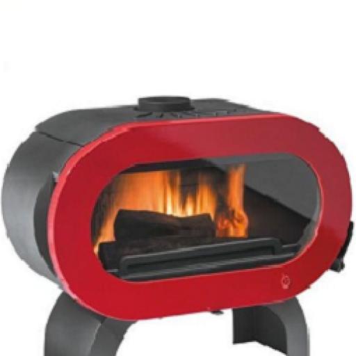 Estufa de leña modelo Fifty de 15 kw marca Invicta