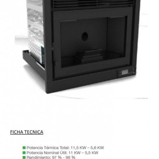 Insertable de pellets modelo IP-170 Marca FM 11.5KW [1]