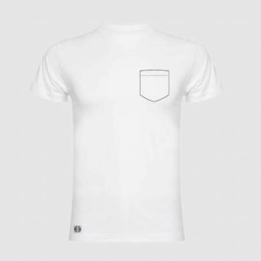 Camiseta unisex bolsillo personalizado color blanco. [0]