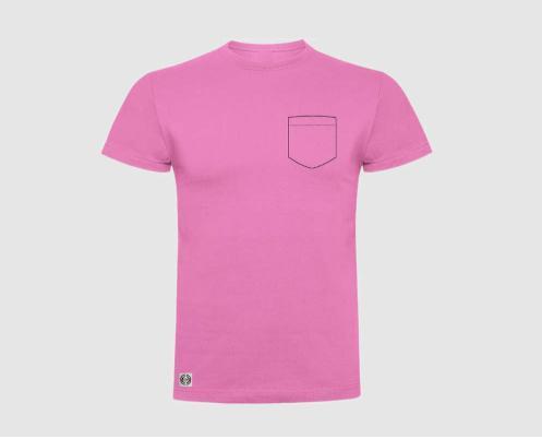 Camiseta niño bolsillo personalizado color rosa