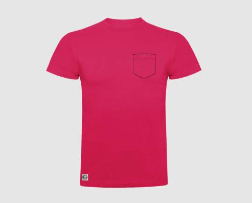 Camiseta niño bolsillo personalizado color rosetón.