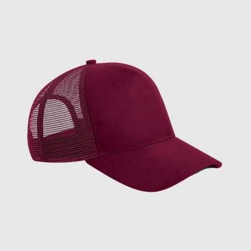 Gorra de ante Trucker color borgoña