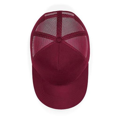 Gorra de ante Trucker color borgoña [2]