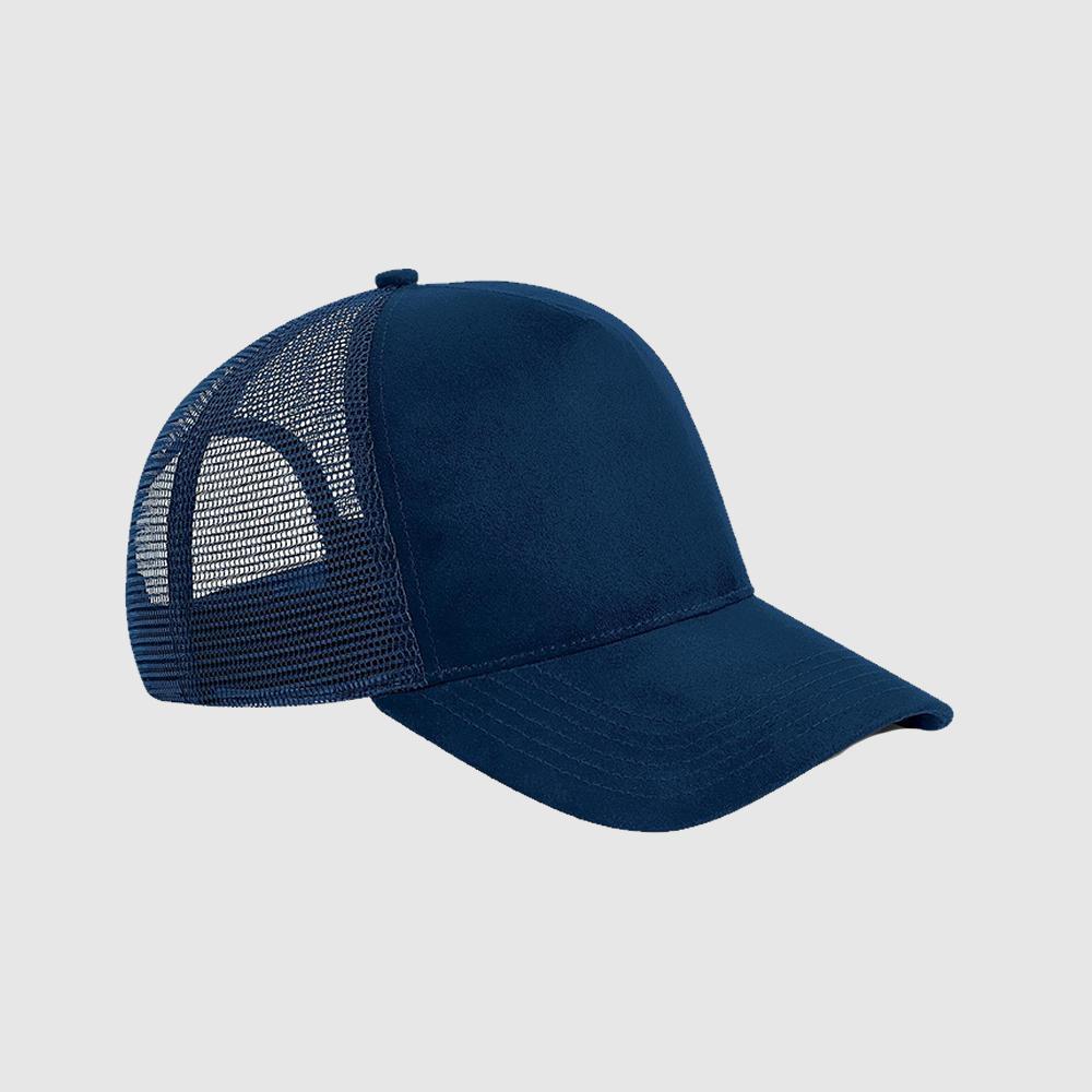 Gorra de ante Trucker color marino