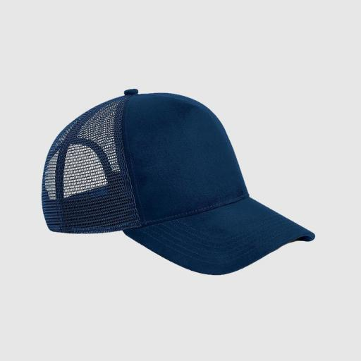 Gorra de ante Trucker color marino
