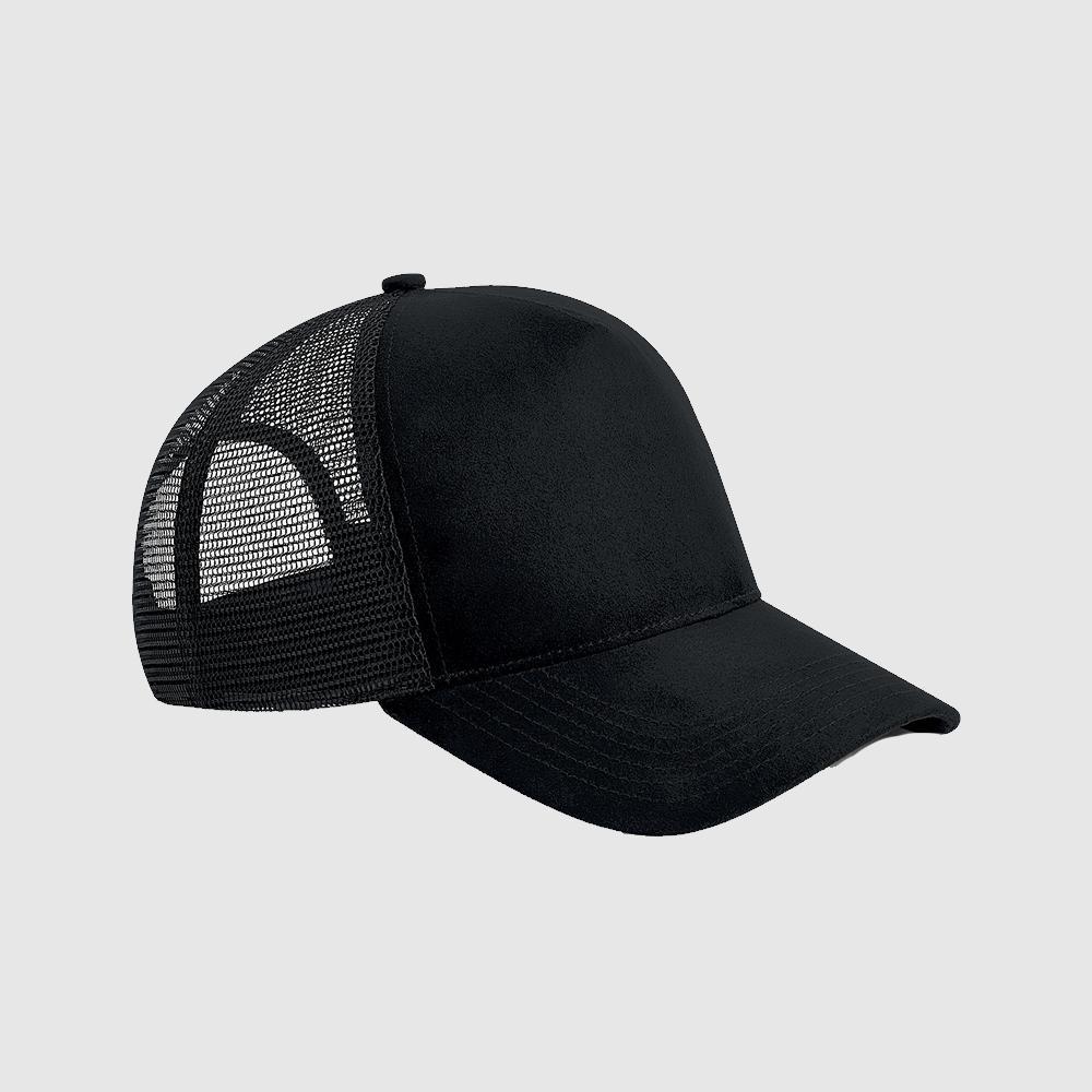 "Gorra de ante ""parche"" Trucker color negro"