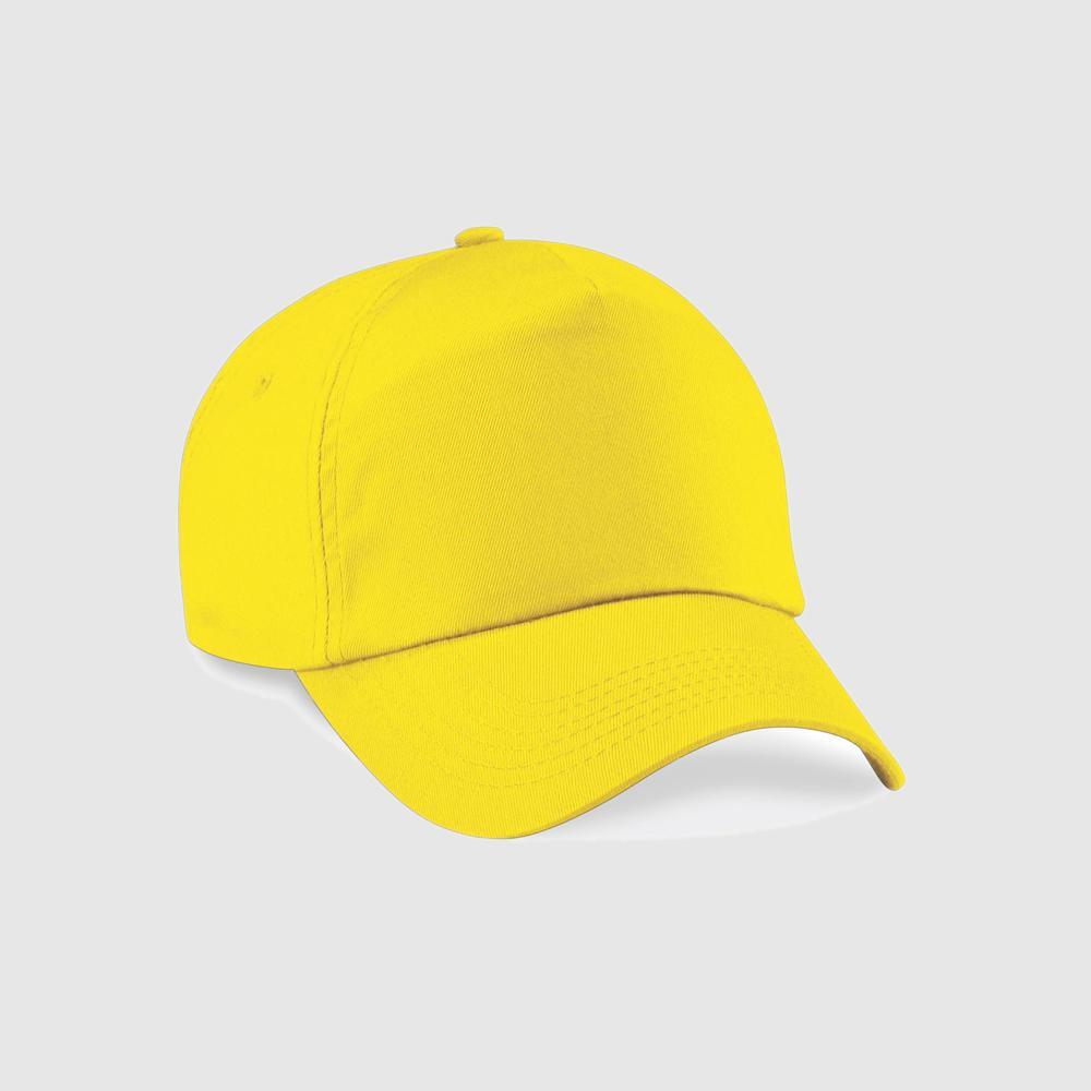 "Gorra junior ""parche"" clásica  5 paneles color amarillo"