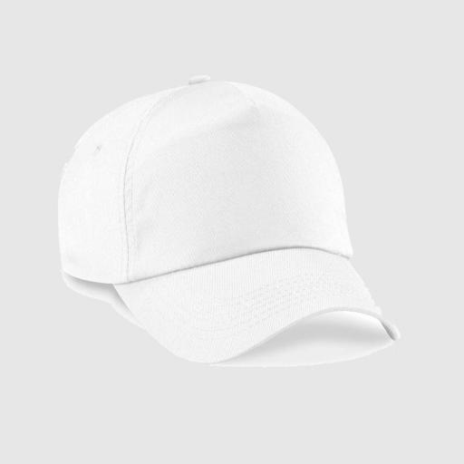 "Gorra clásica junior ""personalizada texto"" color blanco"