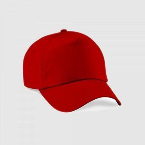 "Gorra junior ""parche"" clásica  5 paneles color rojo"