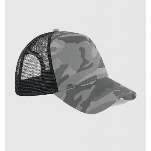 Gorra bicolor color camuflaje gris / negro.