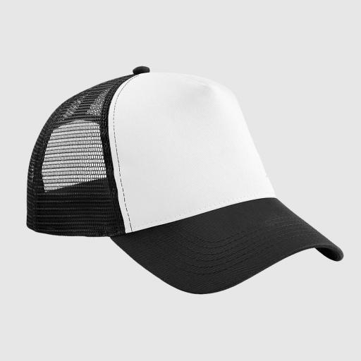 Gorra bicolor color negro / blanco.
