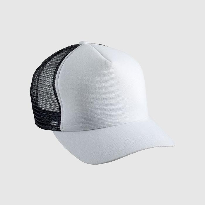 Gorra bicolor color blanco / negro.