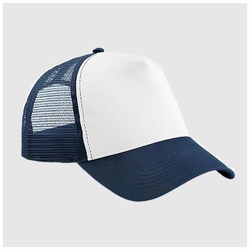 Gorra bicolor color marino / blanco.