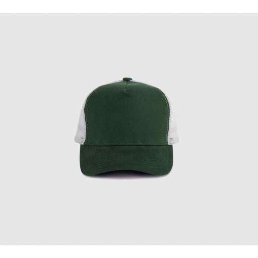 "Gorra bicolor ""parche"" color verde botella / gris. [1]"
