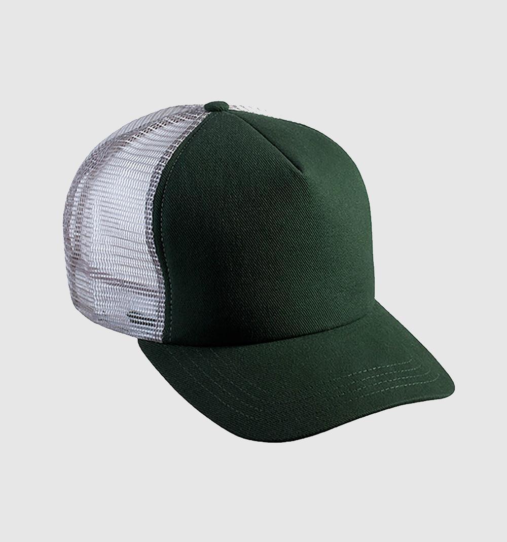 Gorra bicolor color verde botella / gris.