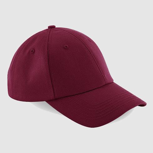 Gorra clásica personalizada texto color borgoña