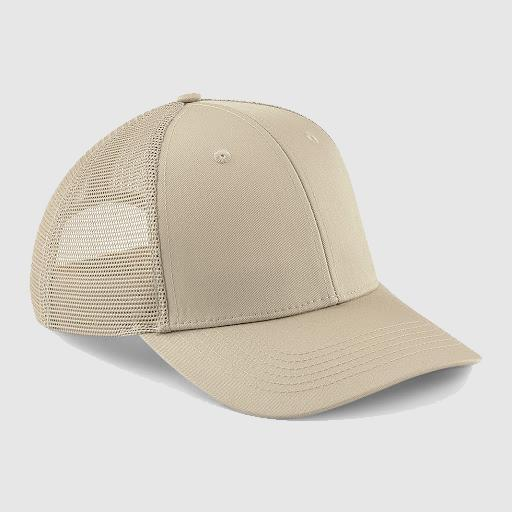 "Gorra Trucker ""parche"" color arena"