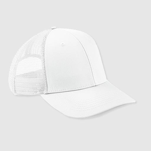 "Gorra Trucker ""parche"" color blanco"