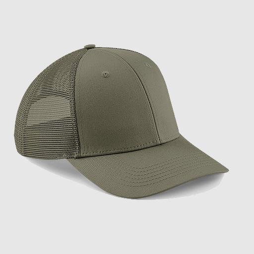 "Gorra Trucker ""parche"" color oliva"