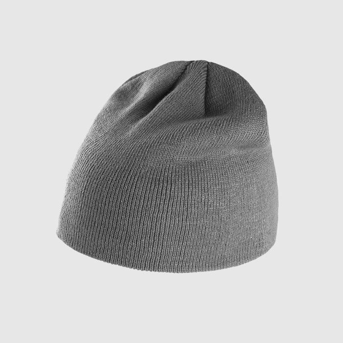 Gorro básico color gris .