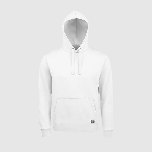 Sudadera capucha clásica unisex color blanco