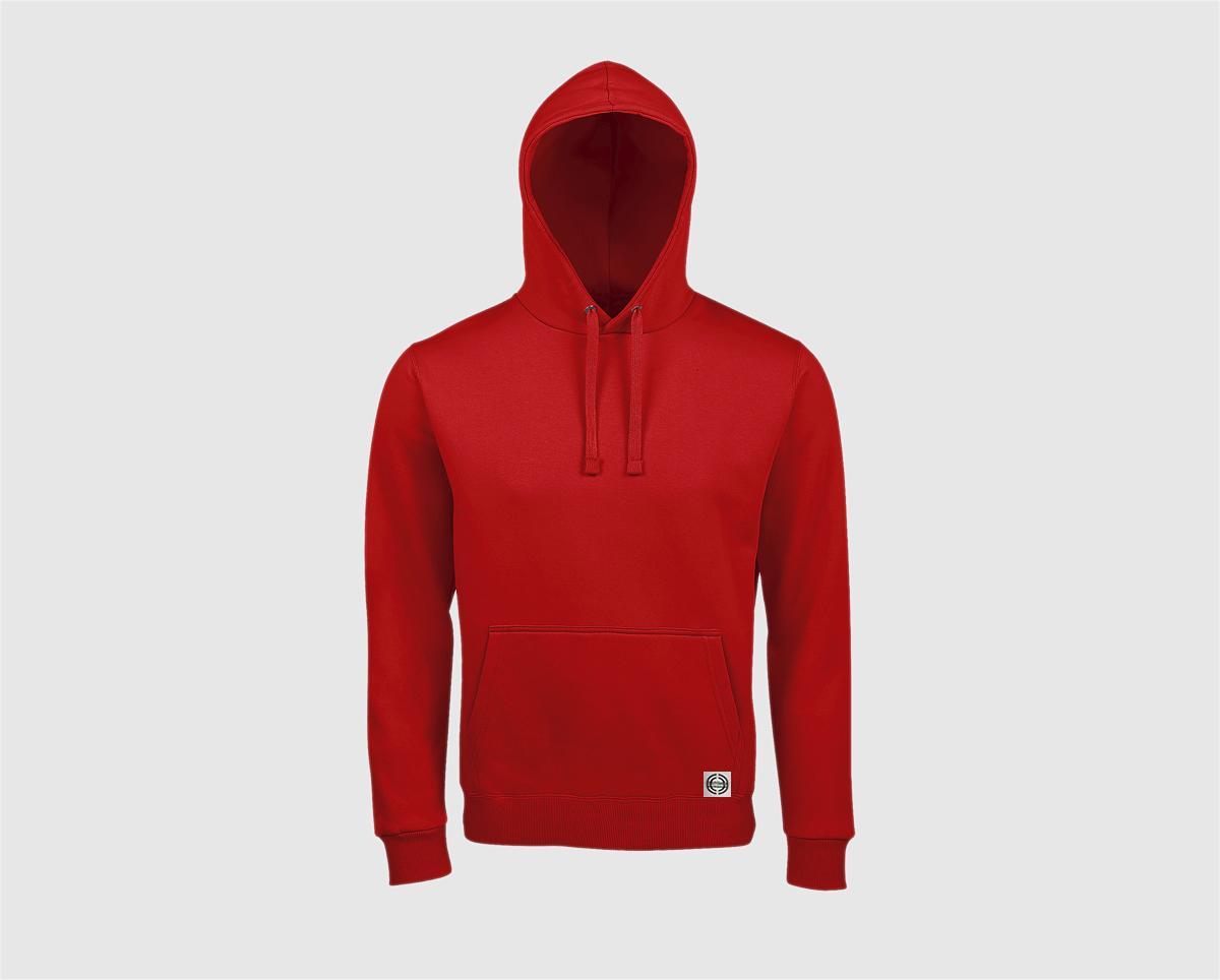 Sudadera capucha clásica unisex color rojo