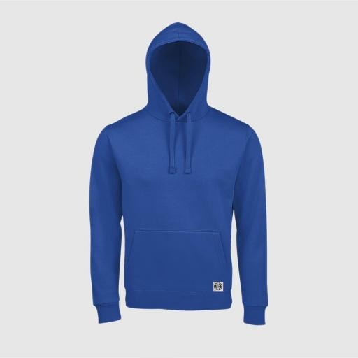 Sudadera capucha clásica unisex color royal