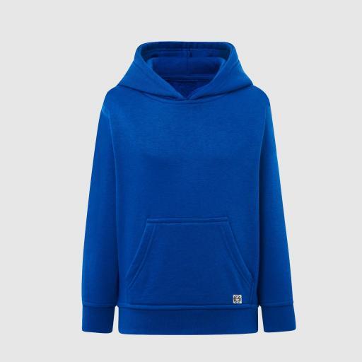 """Sudadera capucha clásica """"inicial pequeña"""" niñ@ color azul royal"""
