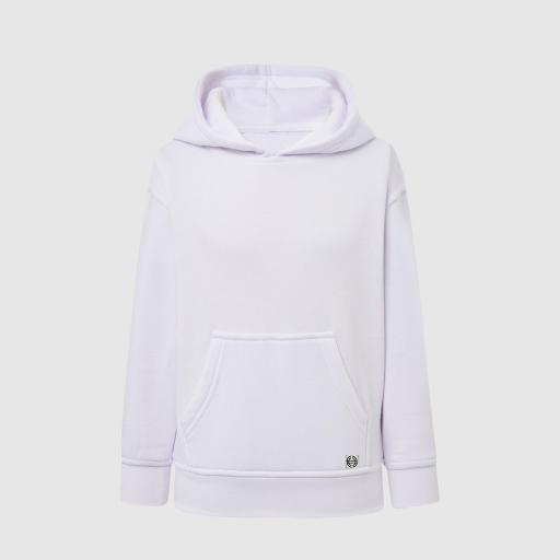Sudadera capucha clásica niñ@ color blanco