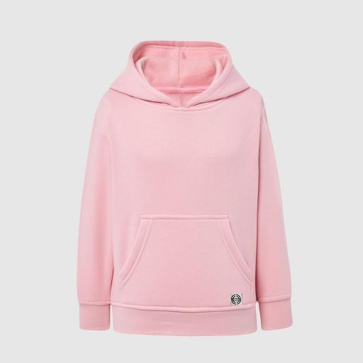"""Sudadera capucha clásica """"inicial pequeña"""" niñ@ color rosa"""