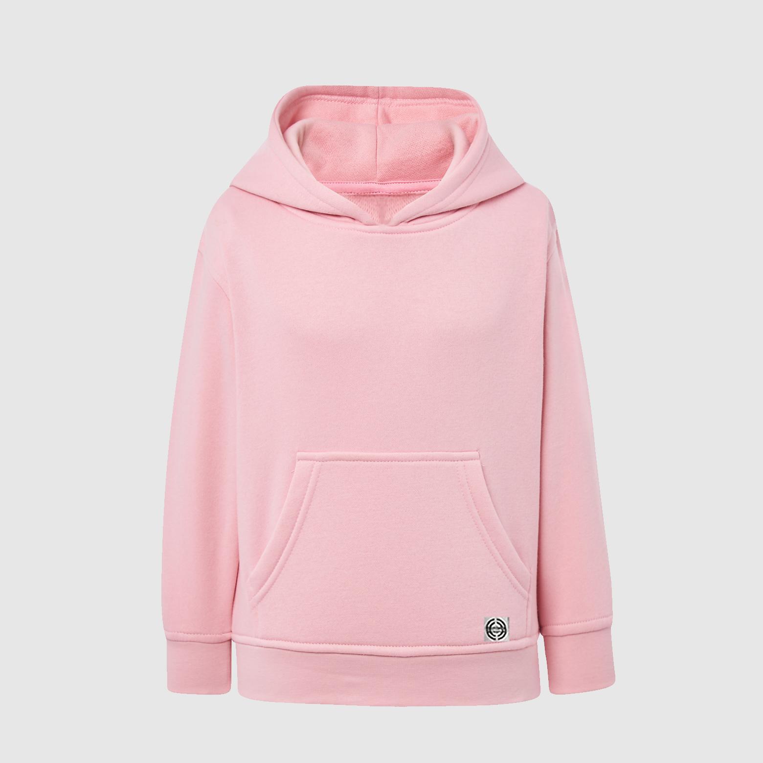 "Sudadera capucha clásica ""inicial grande"" niñ@ color rosa."
