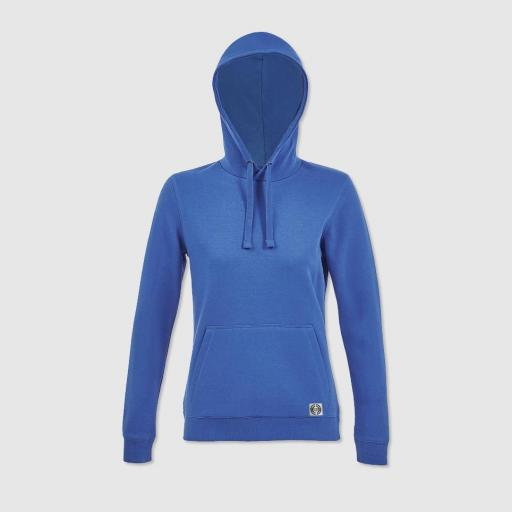 Sudadera capucha clásica mujer color azul royal [0]