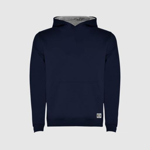 Sudadera capucha bicolor niñ@ color azul marino-gris [0]