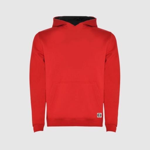 Sudadera capucha bicolor niñ@ color rojo