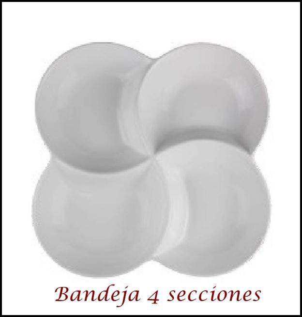 Bandeja 4 Secciones