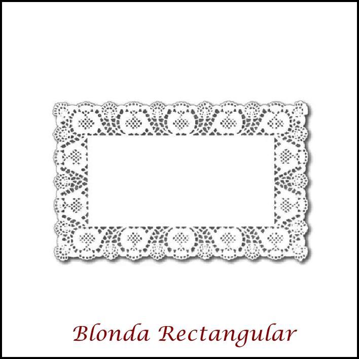 Blondas Rectangulares (200 caja)