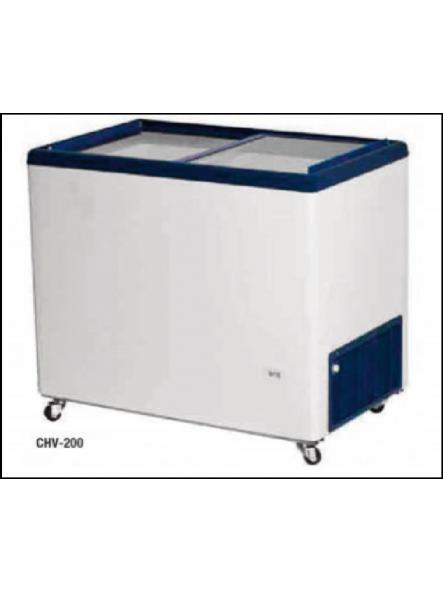 Congelador con puertas correderas cristal CHV-200