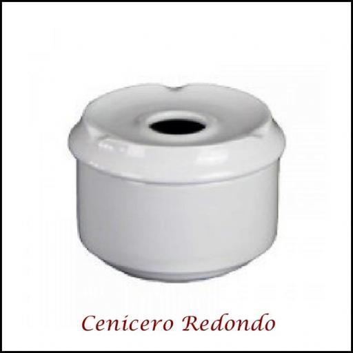 Cenicero  Agua porcelana