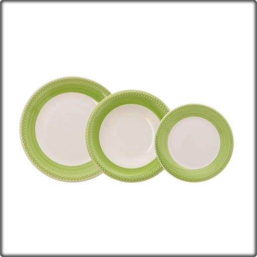 Vajilla Donna verde Ceramiche verde ItaliaCaja 18 piezas. CHURCHILL