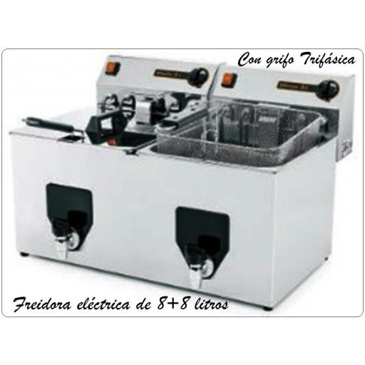 Freidora eléctrica FF 15+15 TR