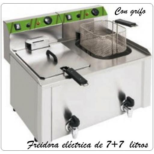 Freidora eléctrica FKG 7+7 LB