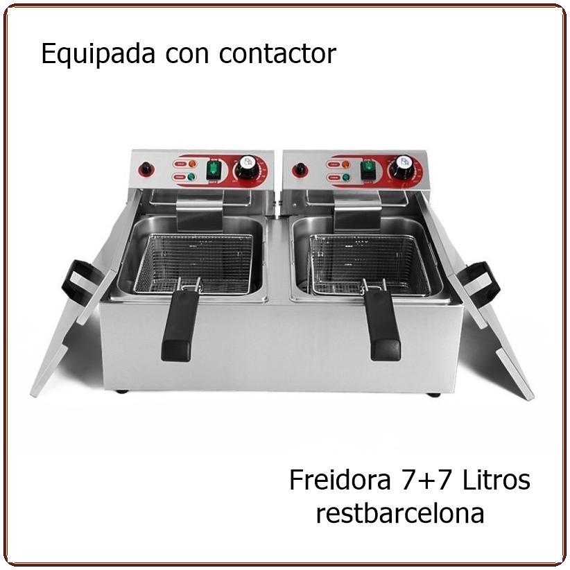 Freidora eléctrica EF-102B. 7+7  Litros