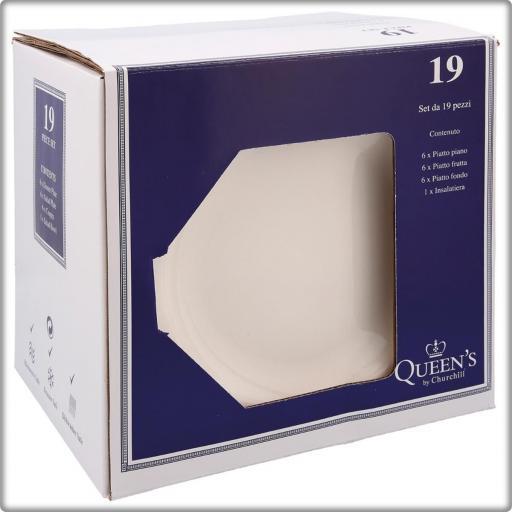 Vajilla Loza Artic White  Caja 18 piezas. CHURCHILL [3]