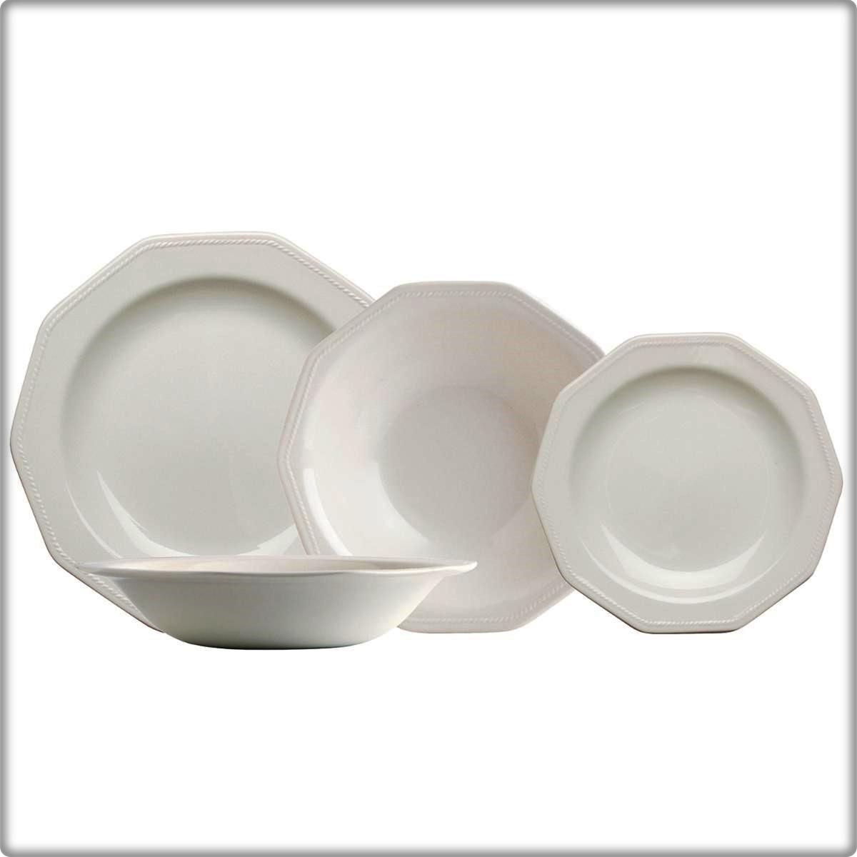 Vajilla Loza Artic White  Caja 18 piezas. CHURCHILL