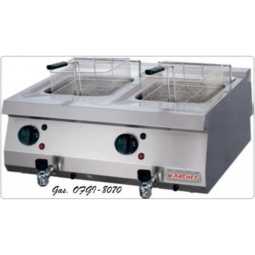 Freidora a Gas OFGI-8070-12+12 Litros