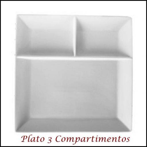 Plato 3 Compartimentos