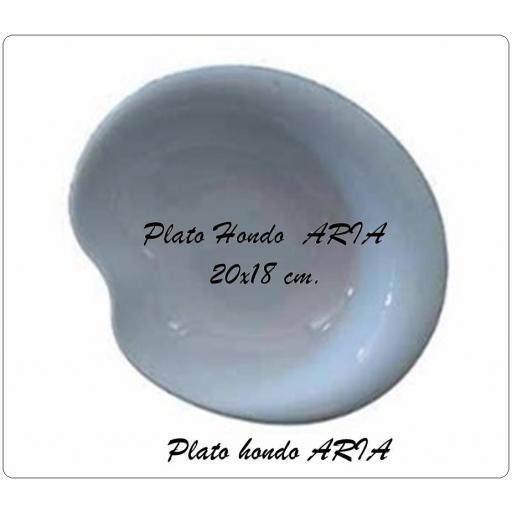 Plato hondo ARIA 20x18 cm.