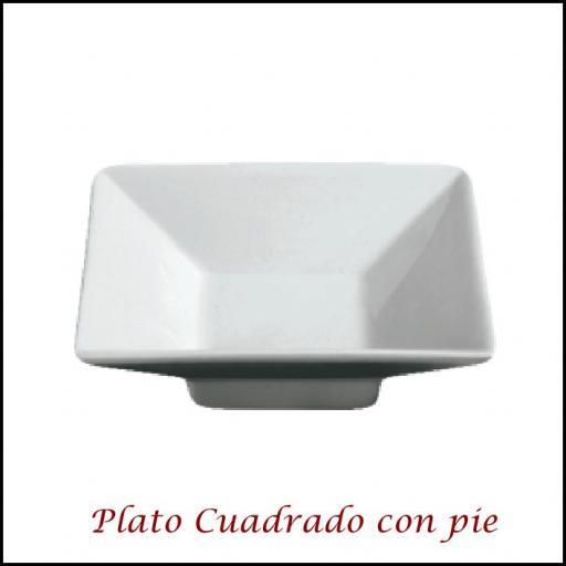 Plato Cuadrado con pie